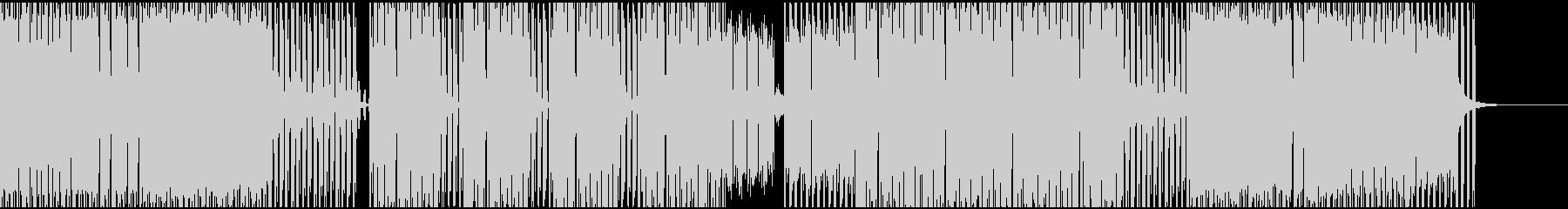 単音メロディーのテクノサウンドの未再生の波形