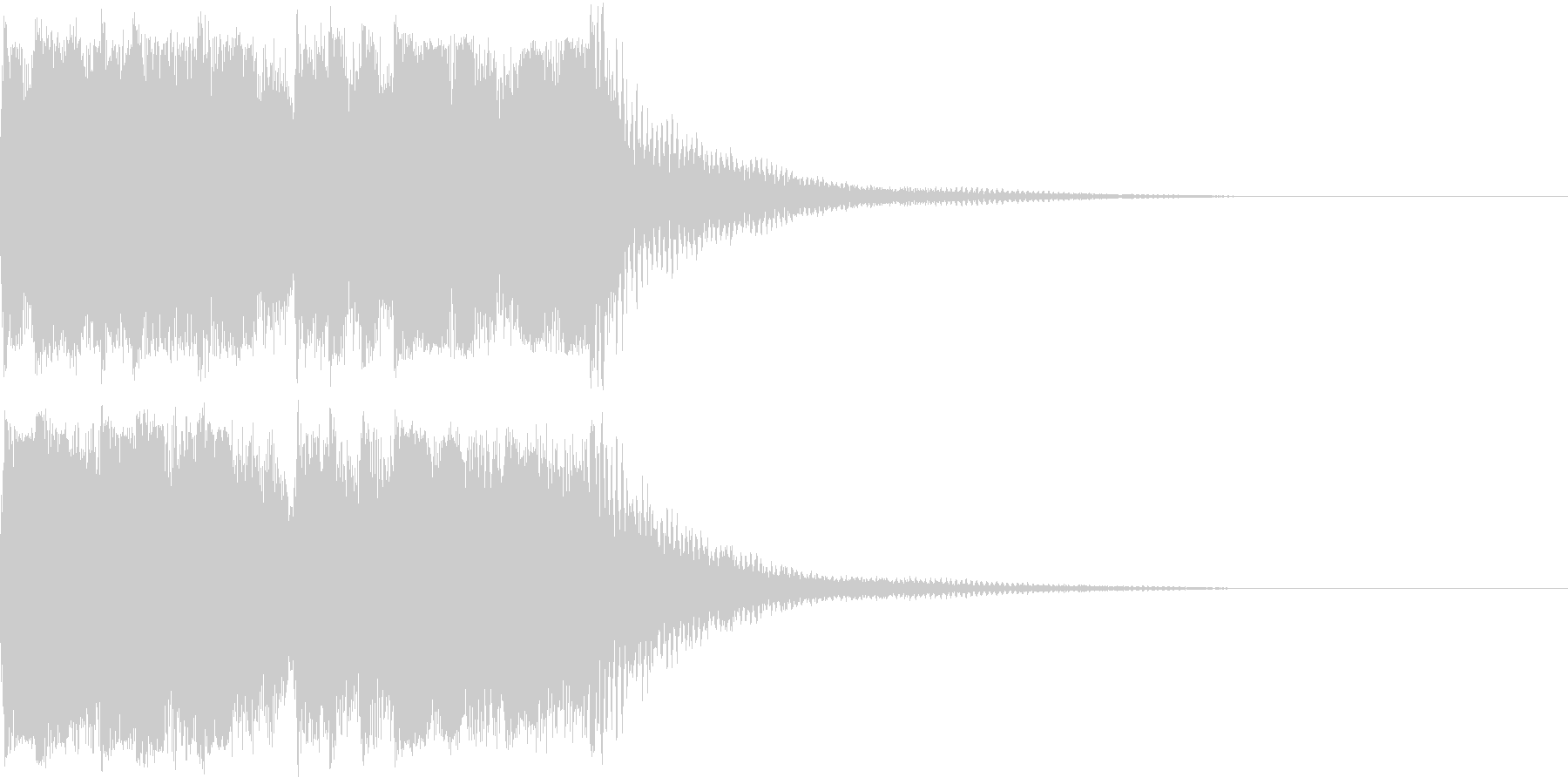 ファンファーレ 当たり 正解 合格 06の未再生の波形