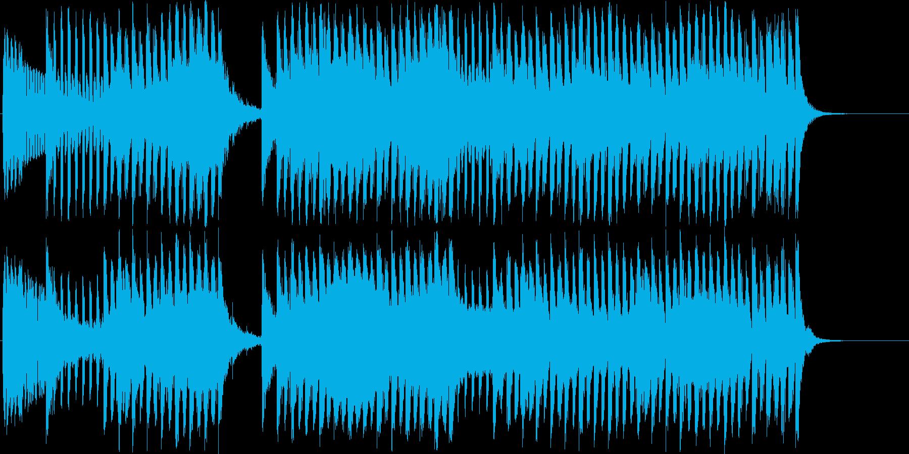 CM ブリキのロボットが踊り出す電子音楽の再生済みの波形