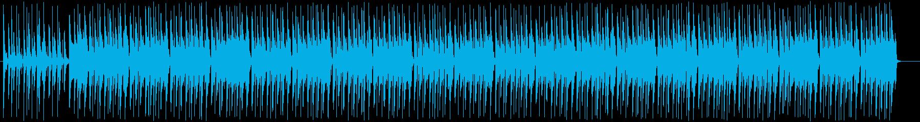 ほのぼのとした雰囲気のポップスの再生済みの波形