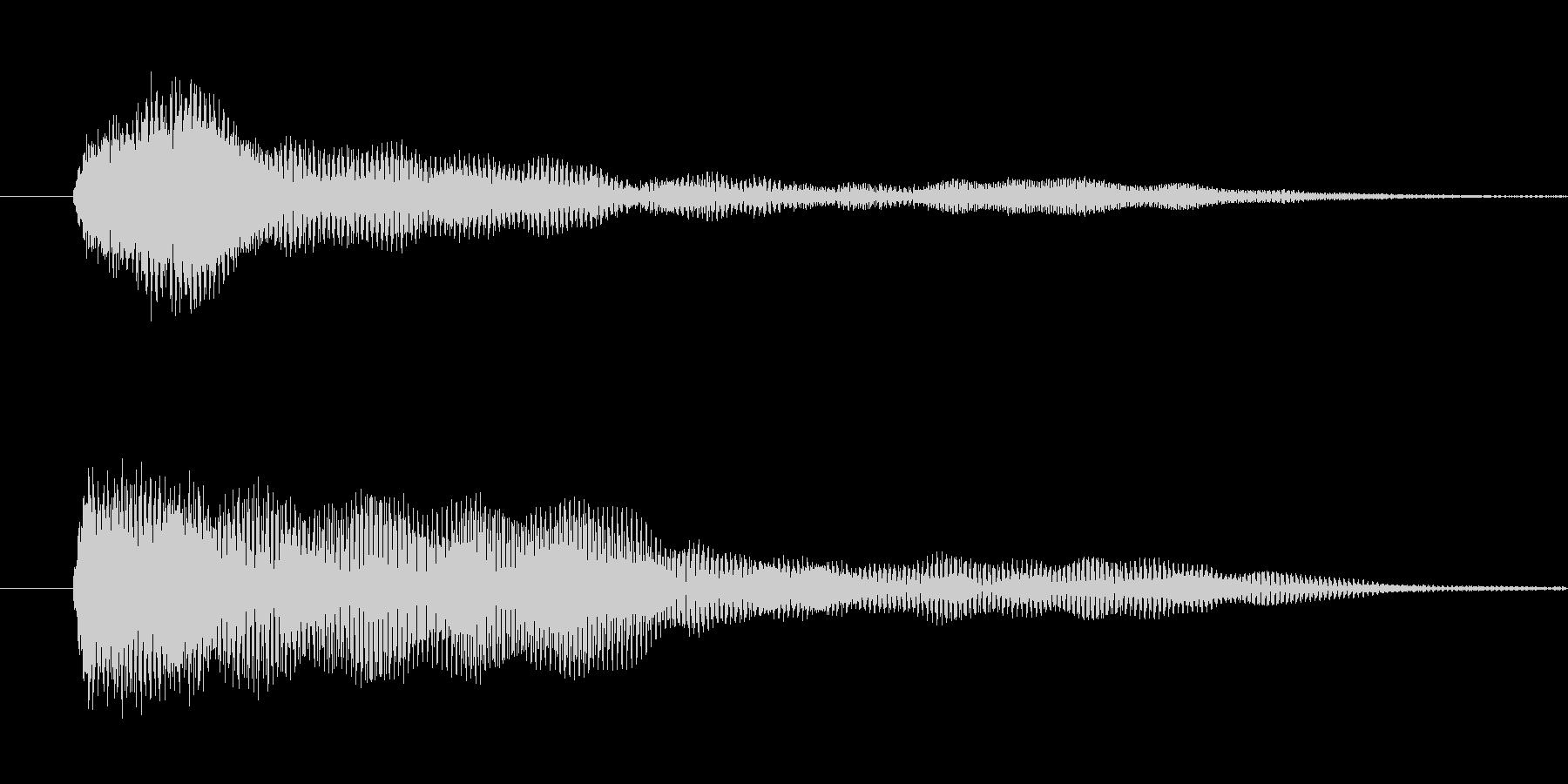 ホラー系 システム音の未再生の波形
