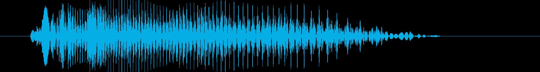 キュウン(ターンテーブル)の再生済みの波形