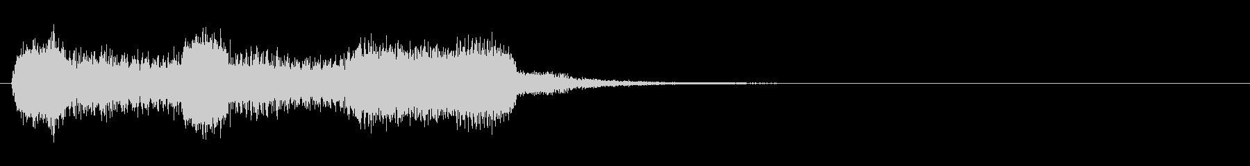 生演奏リコーダーでドレミの音ブラス風の未再生の波形