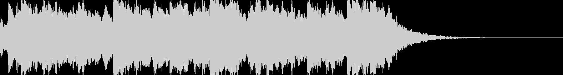 時報 呼びかけ チャイム(残響あり)の未再生の波形