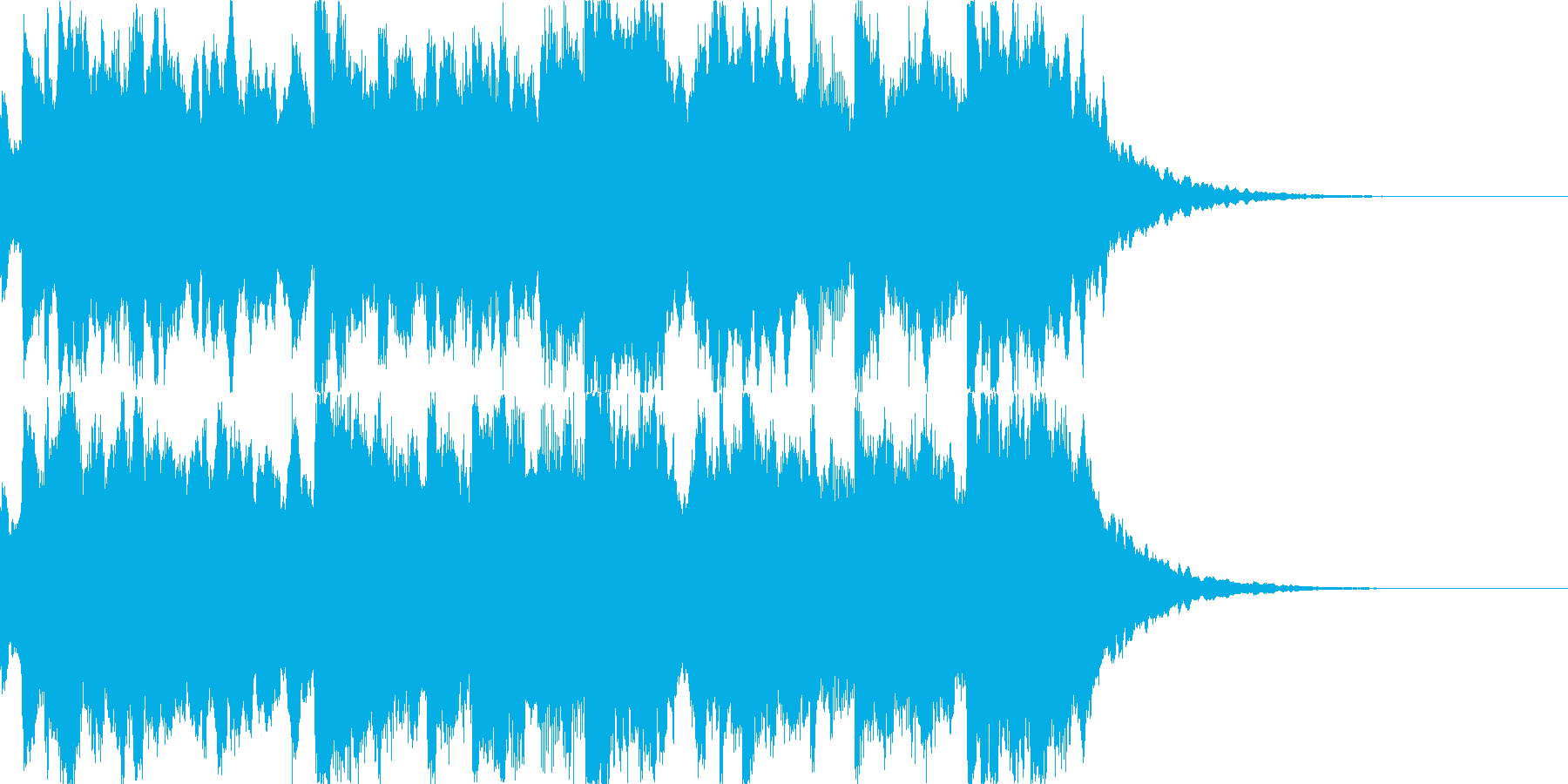 時報 呼びかけ チャイム(残響あり)の再生済みの波形
