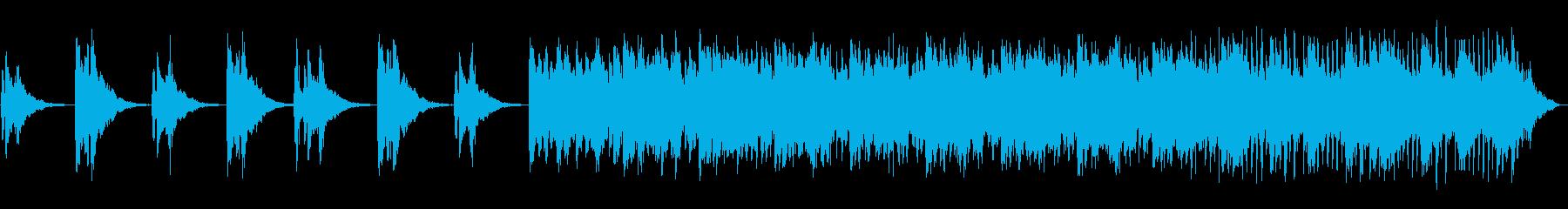 ボイスパーカッションが印象的なBGMの再生済みの波形