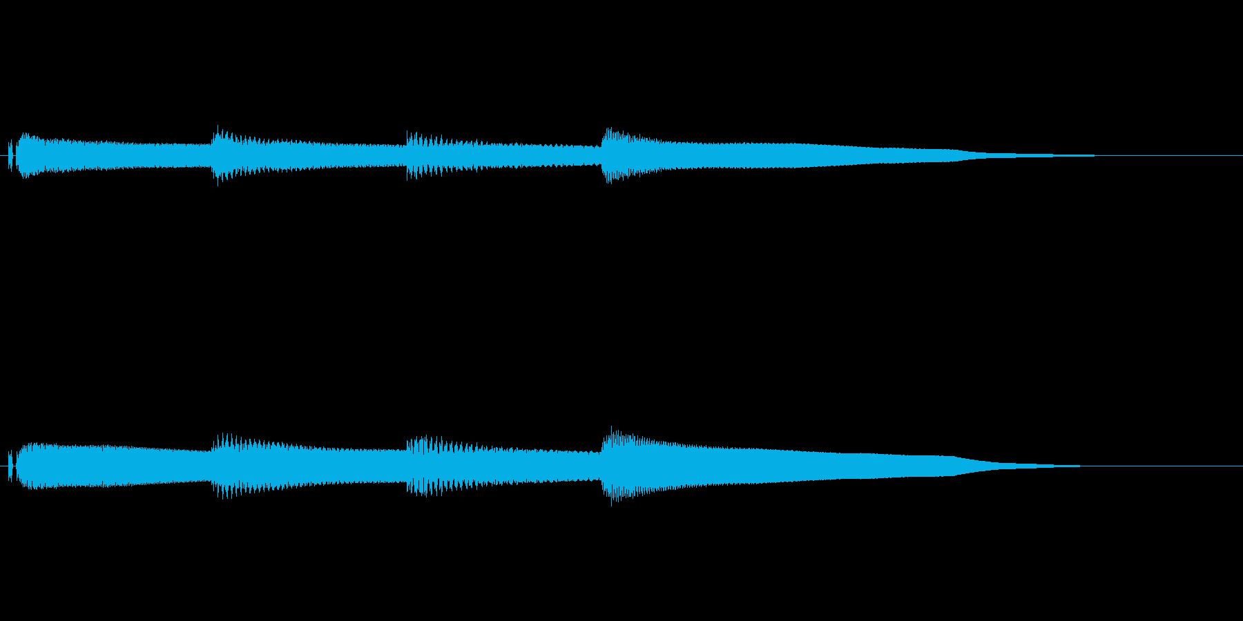 放送開始 アナウンス 学校 チャイムの再生済みの波形