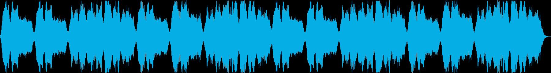 壮大な印象のシンセサイザーサウンドの再生済みの波形
