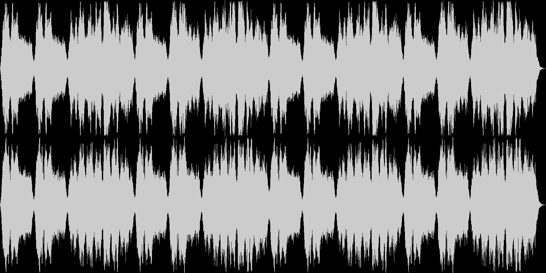 壮大な印象のシンセサイザーサウンドの未再生の波形