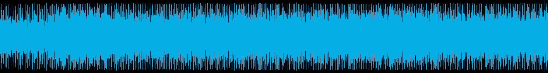 ダイナミックな和楽器テクノロックの再生済みの波形