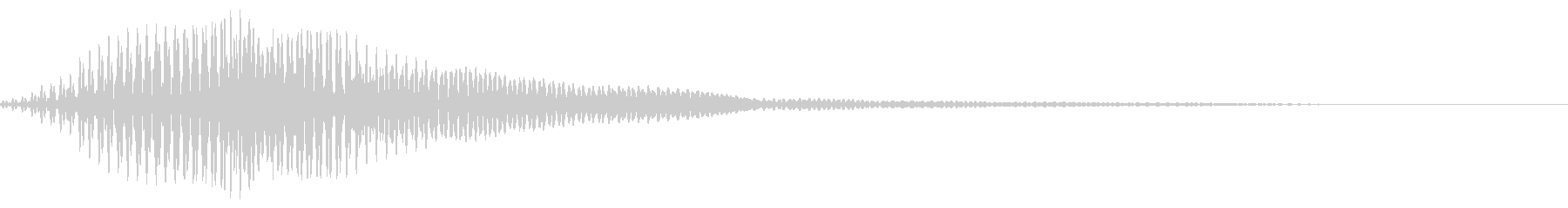 【ドラム】ゴロゴロ・・・の未再生の波形
