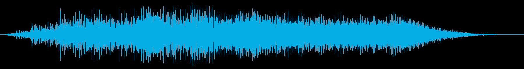 ビョロロン(金属的な音)の再生済みの波形