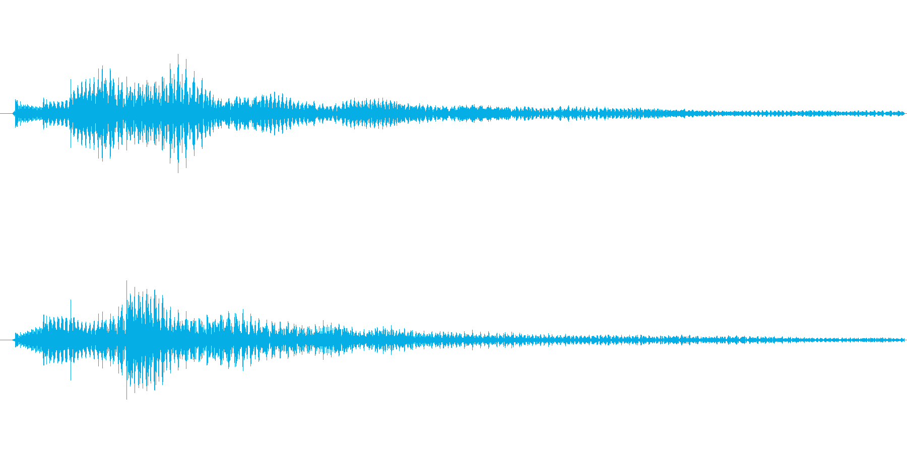 明るい雰囲気の「ぽろろん」という効果音…の再生済みの波形