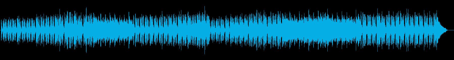 軽快でお洒落な電子ピアノのテクノポップスの再生済みの波形