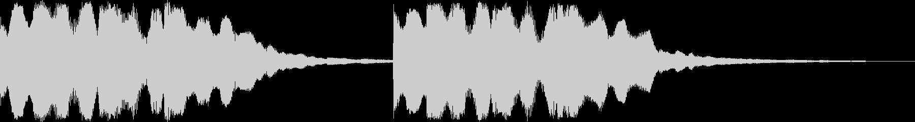 シンプル着信音、お知らせ、アラーム音の未再生の波形