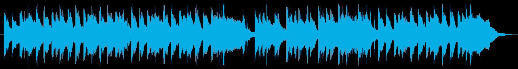 ほのぼのゲームのタイトルやメニューBGMの再生済みの波形