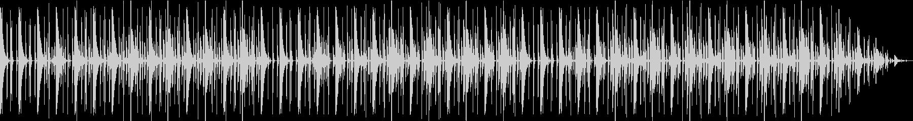 リズムボックスでいびつなテクノビートの未再生の波形