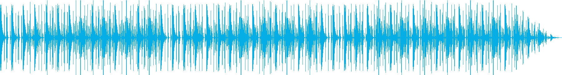 リズムボックスでいびつなテクノビートの再生済みの波形