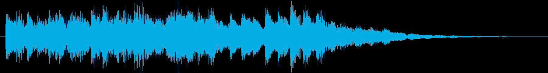 柔らかなコールチャイムの再生済みの波形