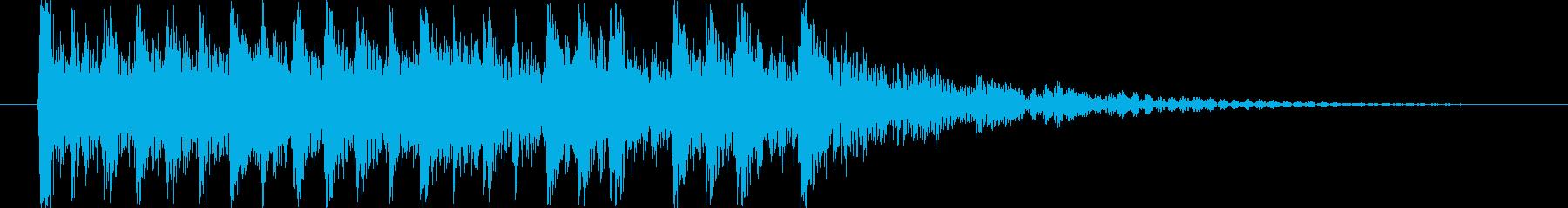 和楽器のアップテンポジングルの再生済みの波形