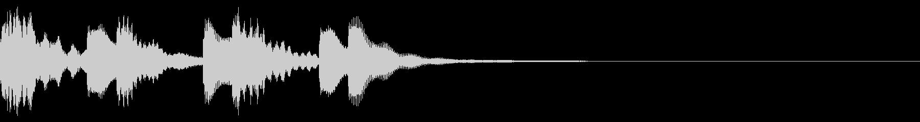 ほのぼのとしたジングル:15-2の未再生の波形