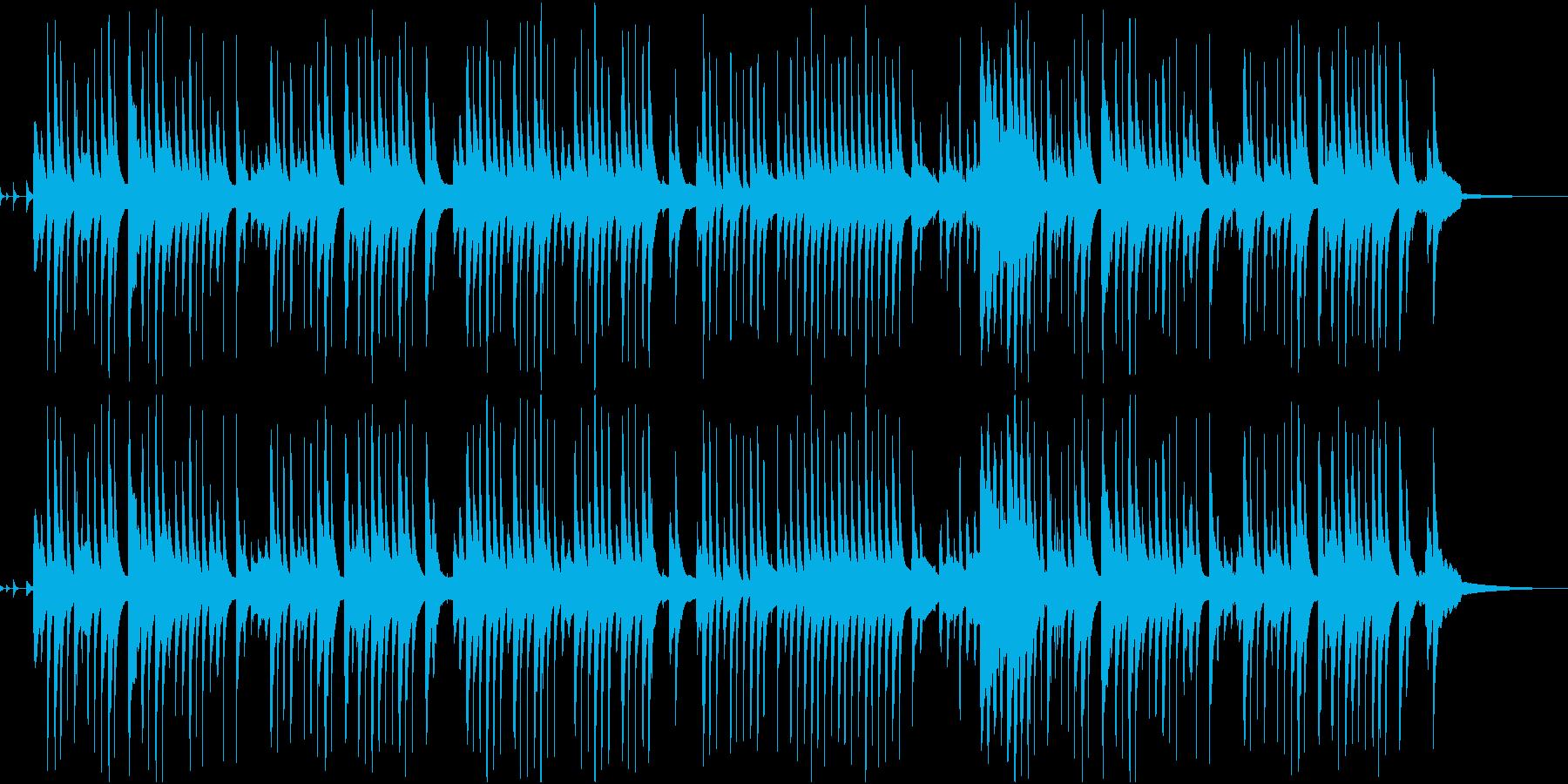 料理向けほのぼのボサノバの再生済みの波形