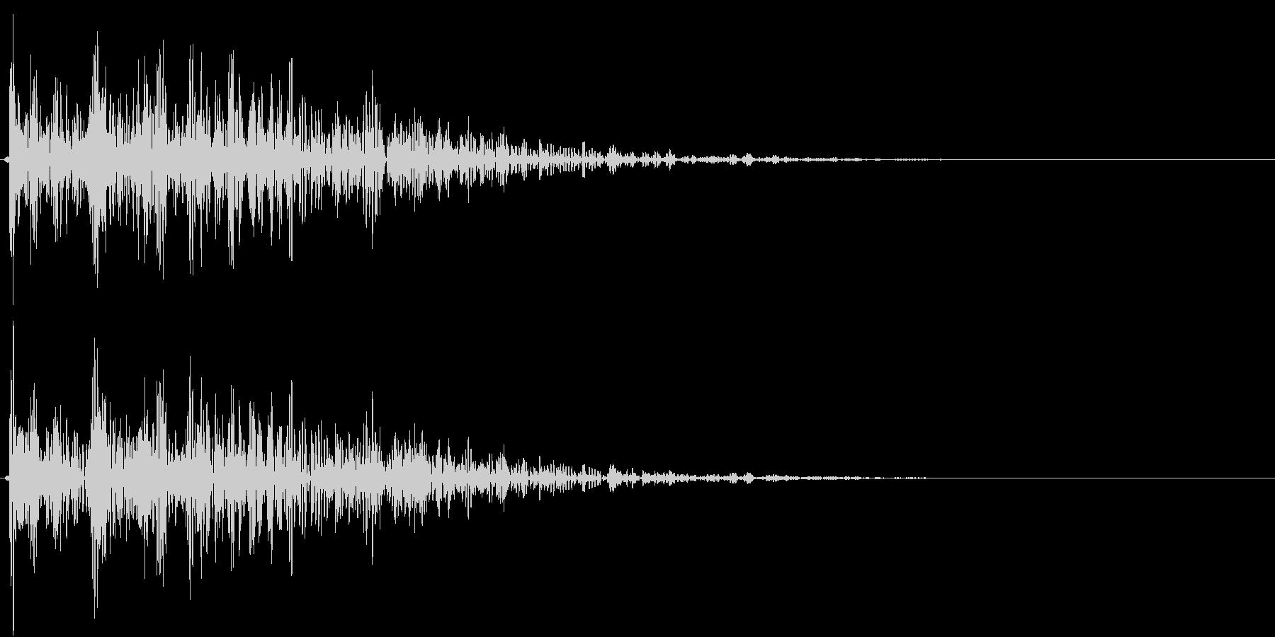 【生録音】プラのトレーを置く音 1の未再生の波形