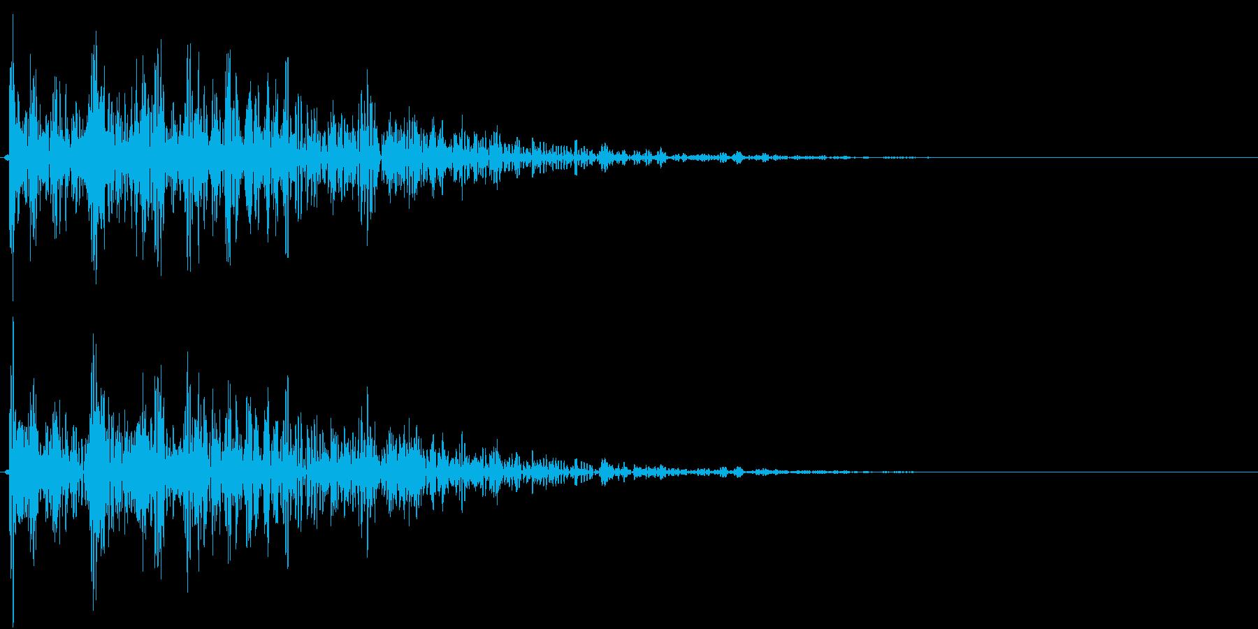 【生録音】プラのトレーを置く音 1の再生済みの波形