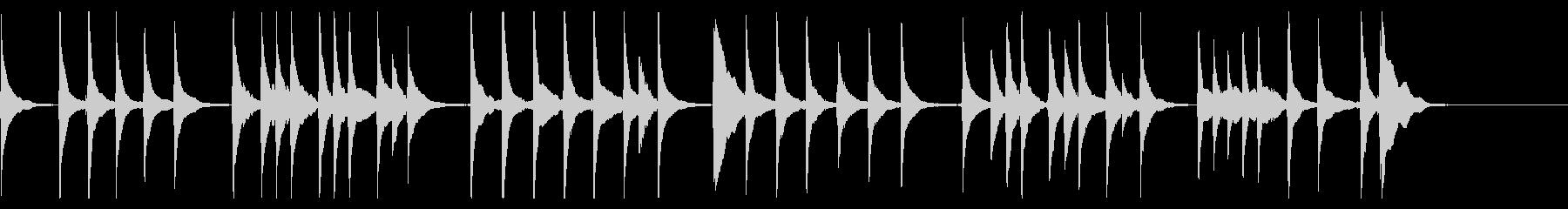 三味線の「かごめかごめ」の未再生の波形