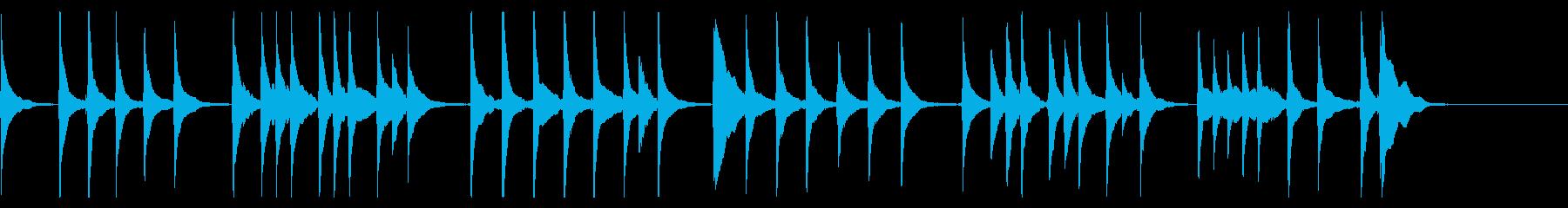 三味線の「かごめかごめ」の再生済みの波形