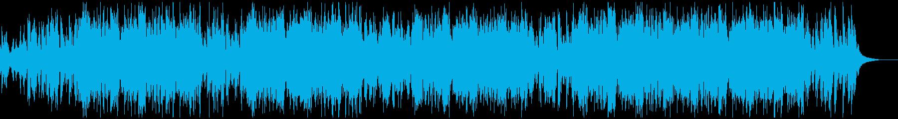 軽快なリズムのシンセとエレピのポップスの再生済みの波形