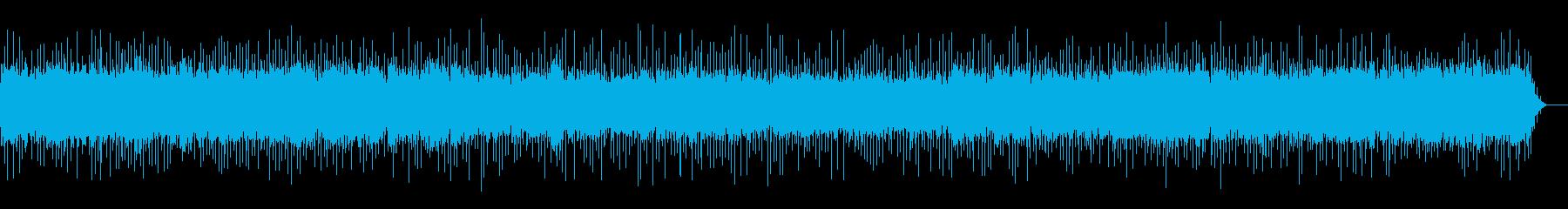 電波が乱れた時のノイズ音の再生済みの波形