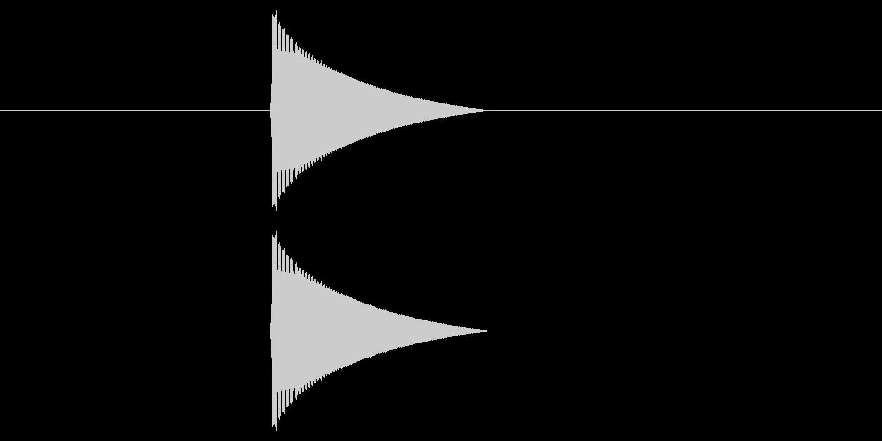ファミコン風_ピュン_弾を打つ音2の未再生の波形