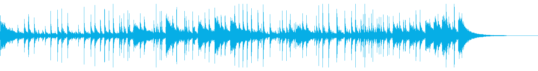ドラム:ジャングルビートの再生済みの波形