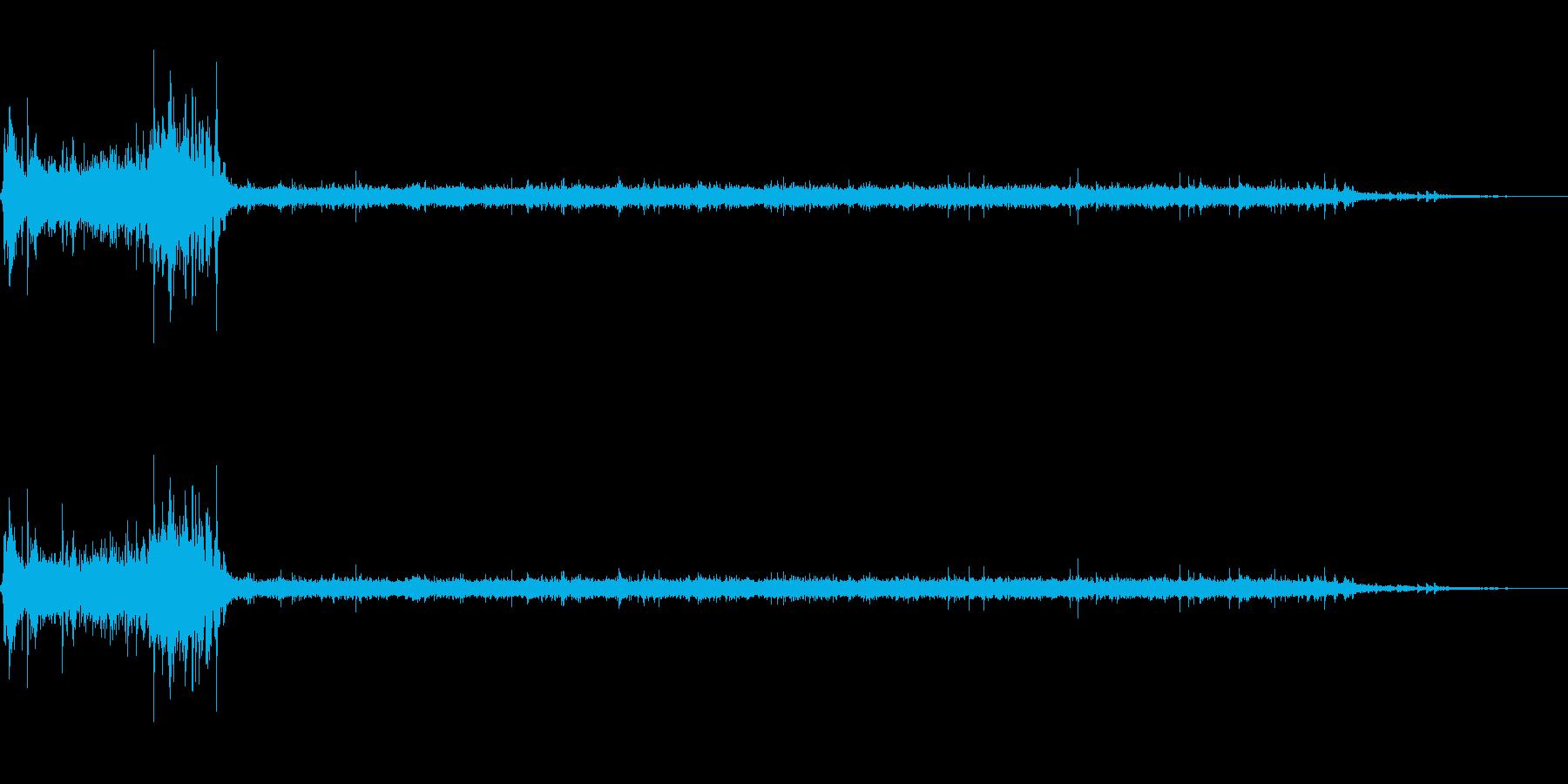 [生録音]水洗トイレを流す03の再生済みの波形