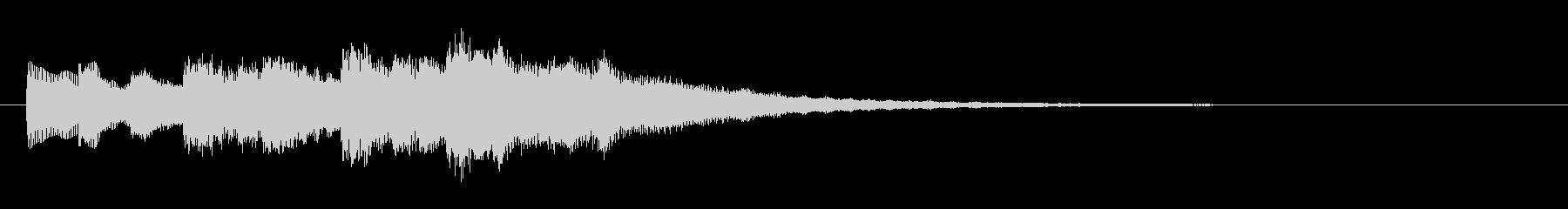 優しくきらびやかなサウンドロゴの未再生の波形