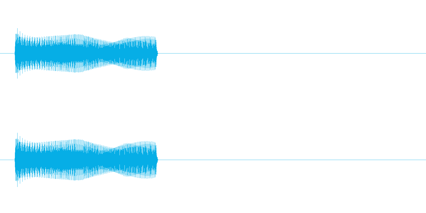 ぴょいーん!というジャンプ音、跳ねる音の再生済みの波形