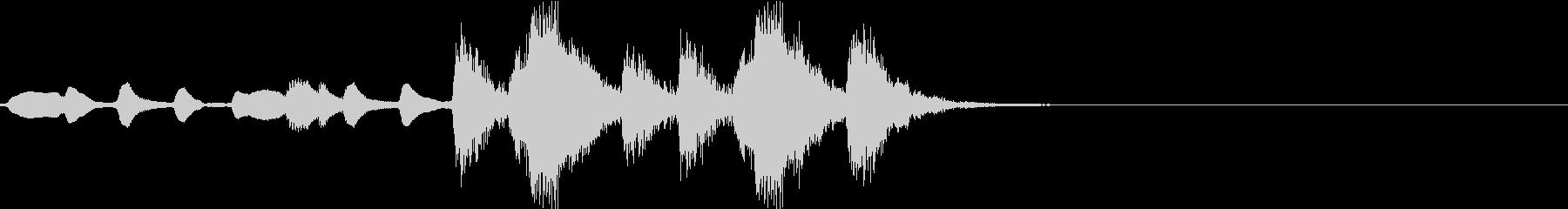 重厚なオーケストラ・ジングルの未再生の波形