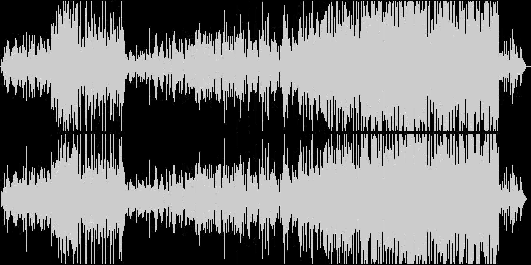 戦の前の武士の心境を表した変拍子ジャズの未再生の波形