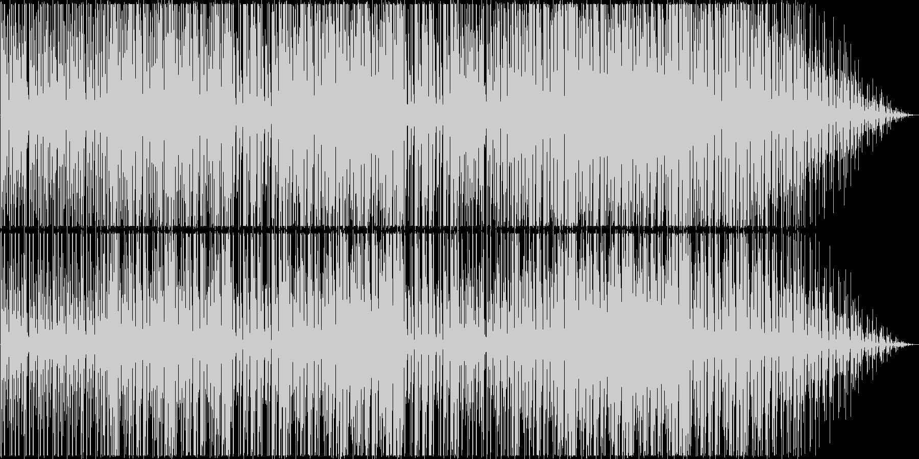 可愛らしくゆったりとしたデジタルポップの未再生の波形