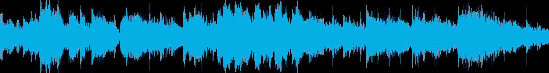 エレクトリックピアノソロとバンドサウンドの再生済みの波形