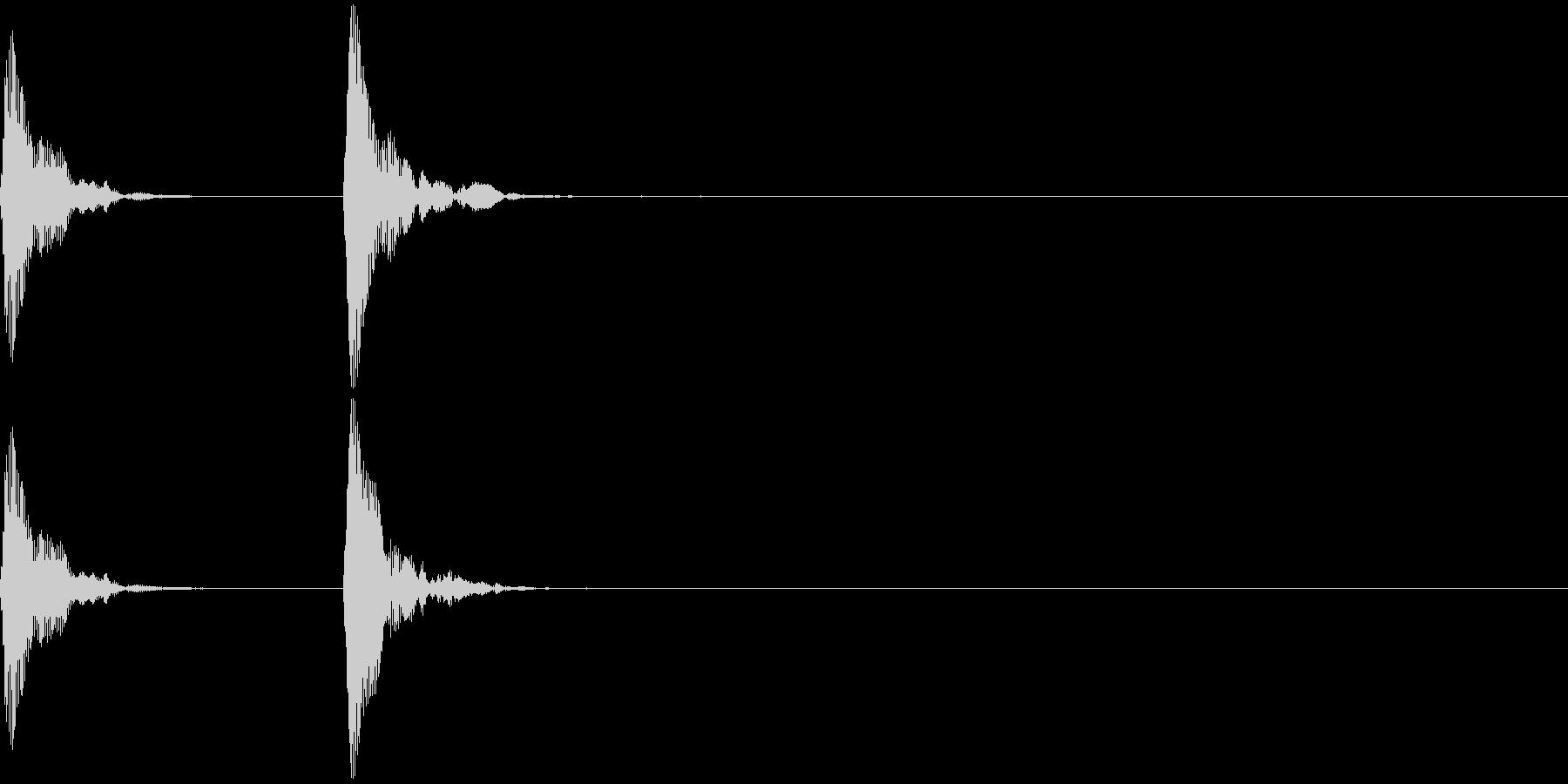 和楽器・鼓(つづみ)のポン_ポン2の未再生の波形