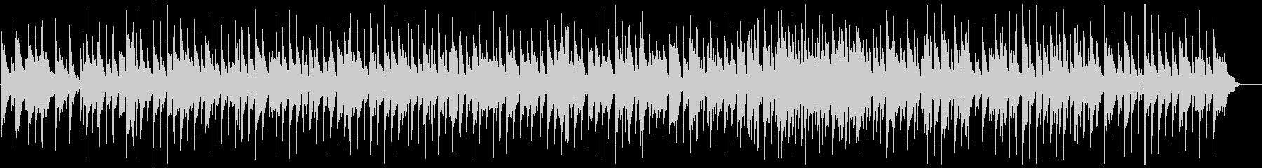 ピアノベースの落ち着いたジャズの未再生の波形