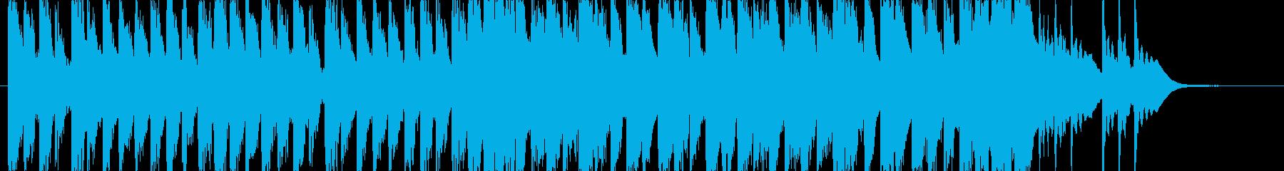 ポップでキュートなキラキラエレクトロニカの再生済みの波形