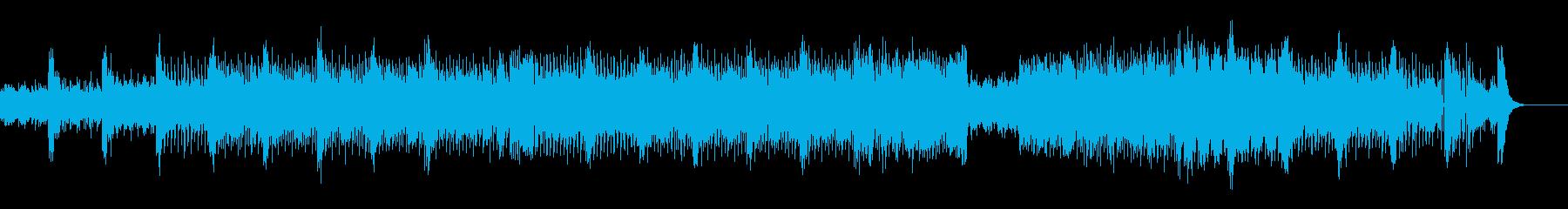 過激な音色構成のテクノ+トランスの再生済みの波形