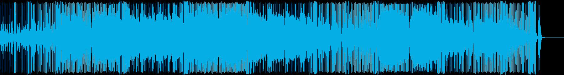 ほのぼのした明るいポップス曲の再生済みの波形