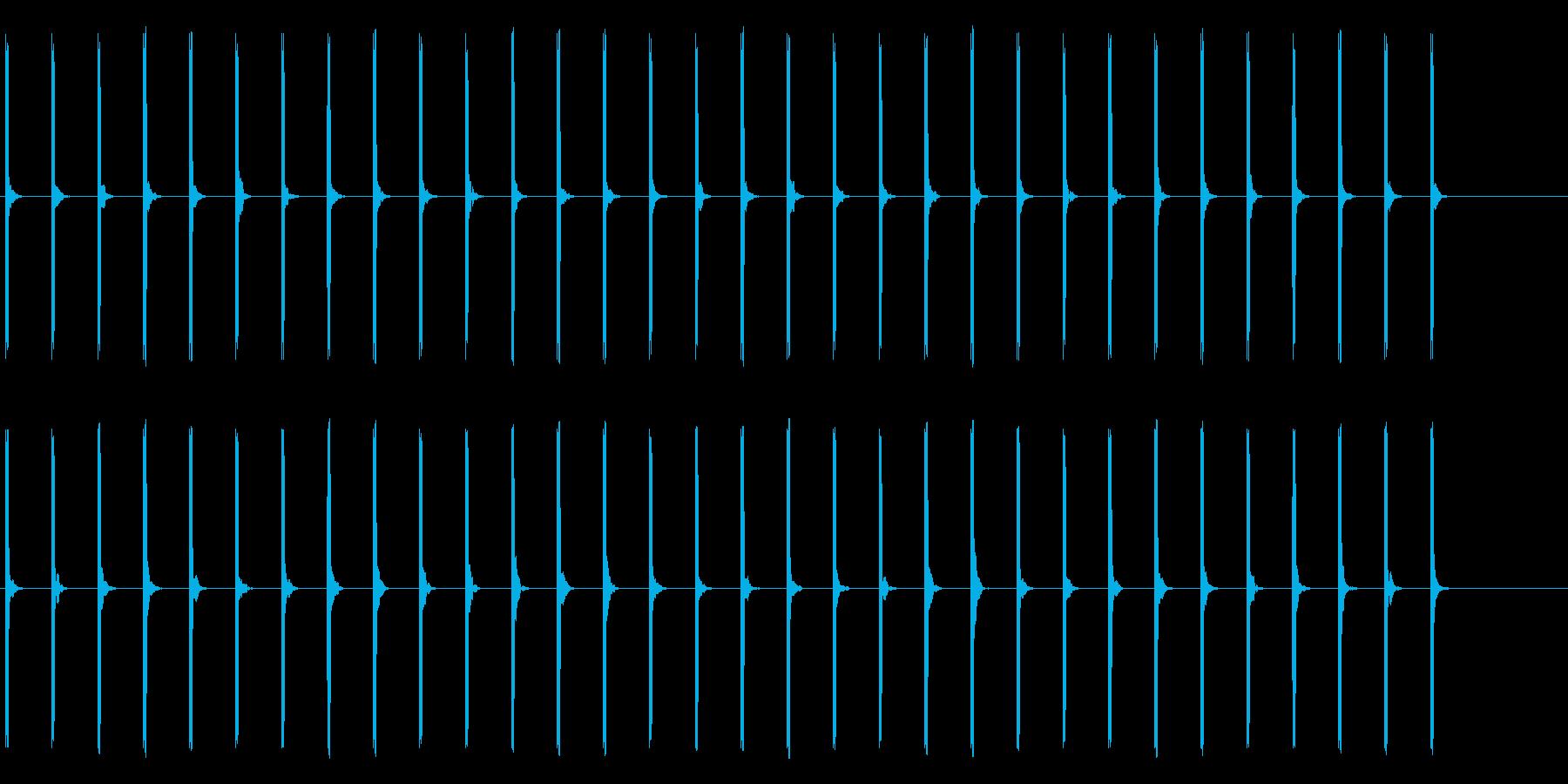 心電図の音-5-2(BPM50)の再生済みの波形