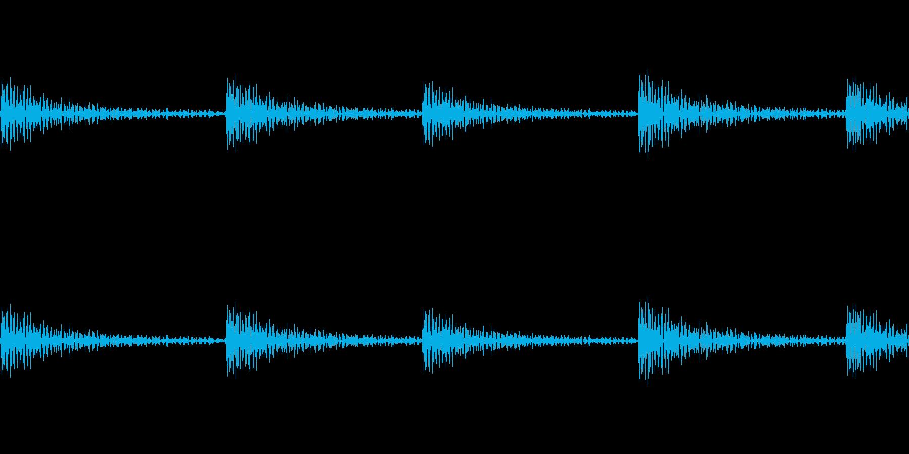 カラカラの再生済みの波形