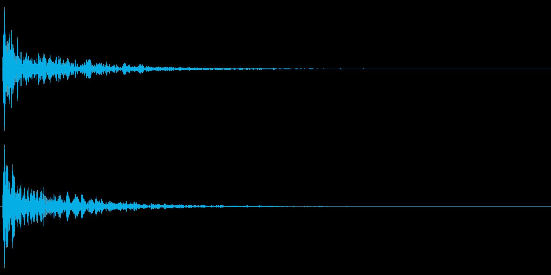 カン!キン!拍子木の音(和風な演出に)2の再生済みの波形