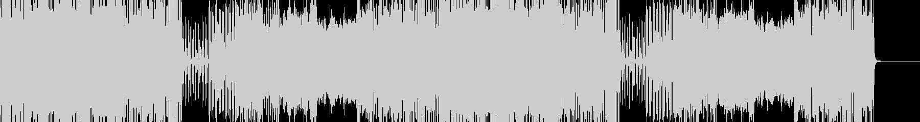 ピアノとギターの激しいロックBGMの未再生の波形